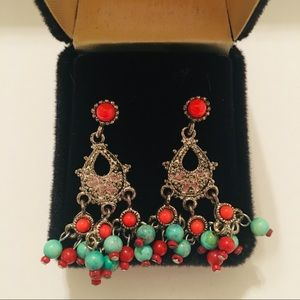 Jewelry - Turquoise Fashion Earrings Chandelier Style